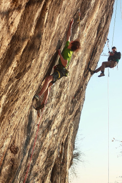 Adam Ondra making the first ascent of Nove G, 9a at Gemona