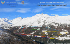 Ciaspe ad Arnoga, Val Viola, Alta Valtellina