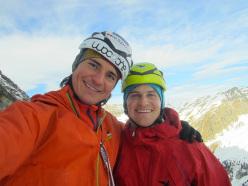 Schwarze Witwe, Hohe Warte, Austria (WI6 M5, 800m, Gerry Fiegl, Simon Gietl 22/12/2013)