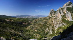 The splendid view onto Abella de la Conca, Catalonia, Spain