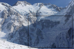 The Diamir Face with the Messner route