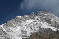 The Rupal Face on Nanga Parbat with the pre-summit, or South Summit.