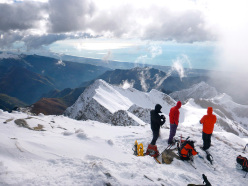 Ski mountaineering in the Apuan Alps: view from the summit of Monte Sagro