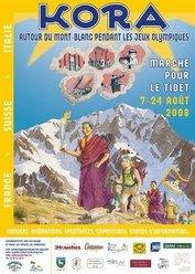 Dall'8 al 24 agosto, in concomitanza dei giochi olimpici di Pechino, si svolgerà una marcia attorno al Monte Bianco a sostegno del Popolo Tibetano.