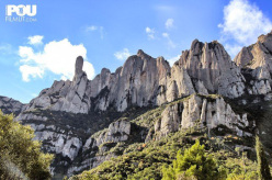 The fantastic conglomerate towers at Montserrat, Spain