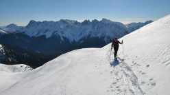 Scialpinismo in Val Visdende: Cima Manzon, verso la cima