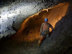 Una delle gallerie che si sviluppano ad oltre i mille metri di profondità