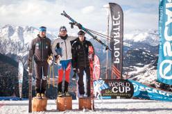 2014 Scarpa ISMF World Cup - Verbier Vertical Race: 1 Mathéo Jacquemoud, 2 Damiano Lenzi, 3 Kilian Jornet Burgada