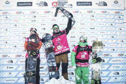 The snowboard podium