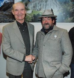 Vasco Taldo assieme a Giancarlo Lenatti.