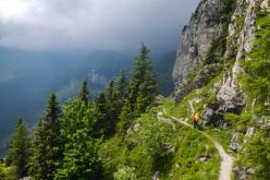 Spedizione Annibale: piove sul sentiero verso il passo di M. Croce Carnico