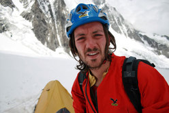 Florian Riegler on the glacier