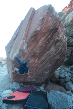 Jakob Schubert climbing Meadowlark Lemon 8B+, Red Rocks, USA