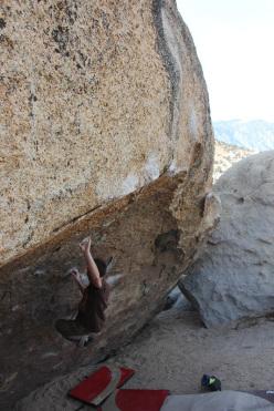 Bouldering at Bishop, USA: Xavier's Roof, Dale's Camp