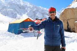 Emilio Previtali at Nanga Parbat Base Camp: a small problem with the drone