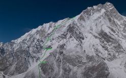 Nanga Parbat and the Schell route, chosen by Simone Moro and David Göttler for their attempt of the first winter ascent.