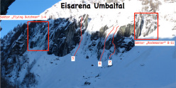 Eisarena Umbaltal: the three sectors Flying Dutchman, Umbaltaler e Rockmaster