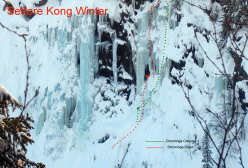 Ice climbing in Norway: Dronninga Direct