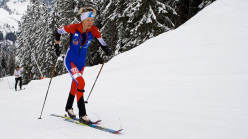 Les Diablerets Vertical Race: Laetitia Roux in testa