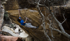 Niccolò Ceria on Wet Dream 8A+.