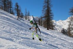 Il Campionato Italiano a Prali di Snowboardalpinismo il 09/03/2014.