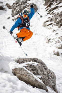 During the Freeride Challenge Punta Nera 2013 at Cortina