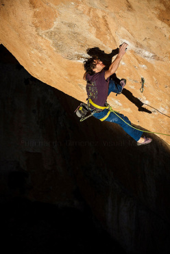 Climbing at Siurana, Spain