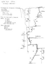 Route topo La Perla preziosa - Sass dla Crusc (Val Badia, Dolomites)