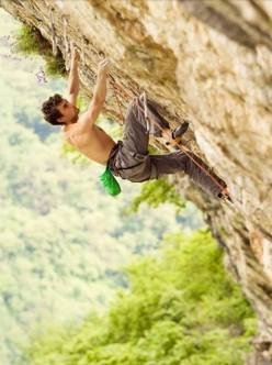 Silvio Reffo climbing The ring of life 9a/a+ al Covolo