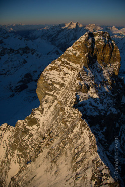 Hervé Barmasse on 13 March during the first winter solo enchainment of the four Matterhorn ridges