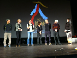The Piolets d'Or 2014 jury: Lim Sung Muk, Karin Steinbach, Denis Urubko, Catherine Destivelle, Erri De Luca, George Lowe & Kay Rush