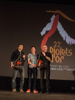 Ueli Steck and Raphael Slawinsky & Ian Welsted win the Piolets d'Or 2014
