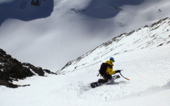 On 31/03/2014 Davide Capozzi and Julien Herry (snowboard) Luca Rolli (ski) descended the SE Face of Grivola, Gran Paradiso.