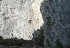 Alessio Roverato sul 6° tiro della Miotto-Bee alla sud-ovest del Burel