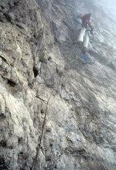 Alessio Roverato sul 19° tiro (A2) della Miotto-Bee alla sud-ovest del Burel