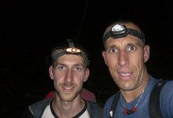 Alessio Roverato e Beppe Ballico in discesa verso il Rifugio Bianchet