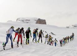 Durante la 40° edizione della Ski Alp Race Dolomiti di Brenta