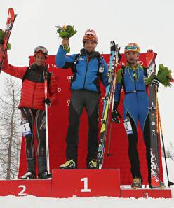 Podio Senior Men: Kilian Jornet Burgada, Matteo Eydallin, Davide Galizzi