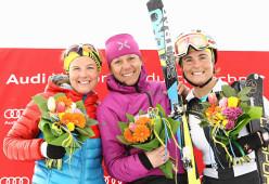 Women's podium: Emelie Forsberg, Roberta Pedranzini, Elena Nicolini