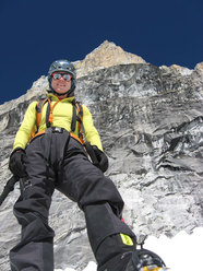 Silvia Vidal big wall climbing on Huascaran North, Peru