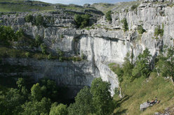 Malham Cove, home to some of the finest limestone climbing in England.