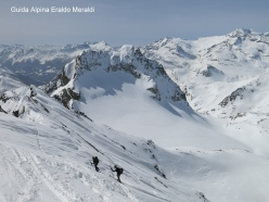 Pizzo Paradisono - ultimo tratto con gli sci