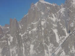 Jeff Mercier and Corrado Pesce on the Chris Bonington - Rafael Tejada-Flores route, West Face Aiguille du Plan