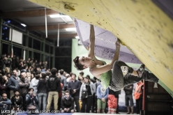 Giada Zampa, sixth at the first stage of the Italian Bouldering Cup at Rome on 13/04/2014.