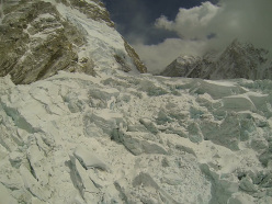The large serac above the Icefall, taken in 2012.
