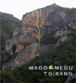 Mago e Megu, the route at Toirano first ascended by Manolo and Mario Nebiolo