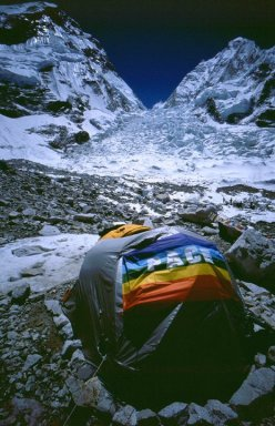Everest Base Camp and the Icefall in 2003