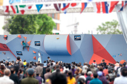 The first stage of the Bouldering World Cup 2014 at Chongqing in China
