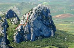 Fuoco cammina con me (5a, 190m, Giorgio Iurato, Cristina Pannuzzo) Rocca Ramusa
