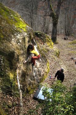 Daniela Feroleto climbing at Uscerno
